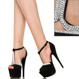 Kobiece Eleganckie Sandały z Cyrkoniami