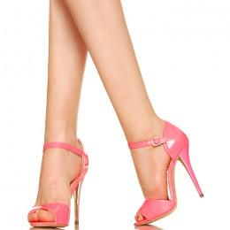Neonowy Róż - Subtelne Sandały