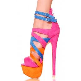 Kolorowe Promienne Sandały
