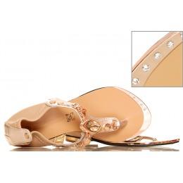 Złote Sandały - Japonki - Duże Kamienie