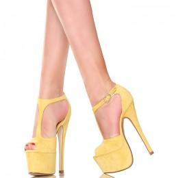 Sandały - Zgrabne Żółte Słoneczne