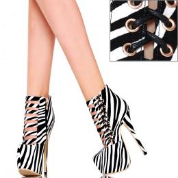 Botki - Fantastyczna Pleciona Zebra