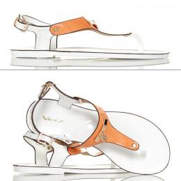 Sandały Japonki Meliski Pomarańczowe