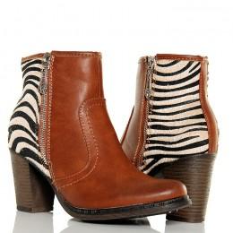 Botki - Karmel Klasyczne - Zwierzęca Pięta - Zebra
